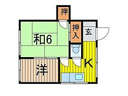 コーポ小野塚[201号室]の間取り