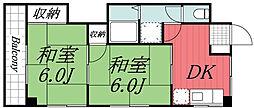 千葉県千葉市若葉区小倉台3丁目の賃貸マンションの間取り