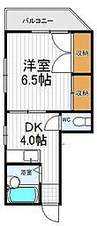 コンフォート島田[401号室]の間取り