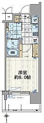 Osaka Metro長堀鶴見緑地線 西大橋駅 徒歩4分の賃貸マンション 7階1Kの間取り