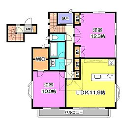 本多邸2F[2階]の間取り