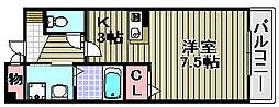 グレース三田[202号室]の間取り