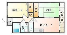 メゾンフルール[2階]の間取り