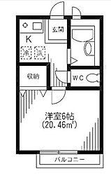 東京都足立区梅島3の賃貸アパートの間取り