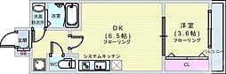 Osaka Metro中央線 堺筋本町駅 徒歩5分の賃貸マンション 14階1DKの間取り