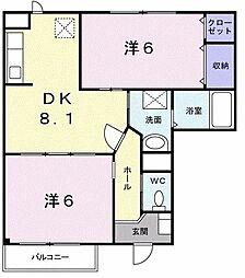 ブロッサムI[1階]の間取り