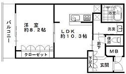 大阪ひびきの街ザ・サンクタスタワー[1004号室]の間取り