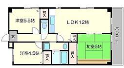 パシフィックマンション[3階]の間取り