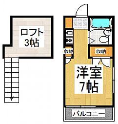 K-4[2階]の間取り