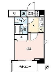 東京都文京区白山3丁目の賃貸マンションの間取り