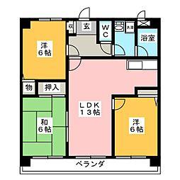 コンフォート松川[1階]の間取り