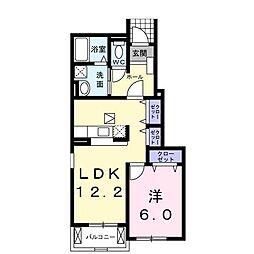 クリーンN&K・B[1階]の間取り