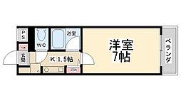 花屋敷マンション[203号室]の間取り