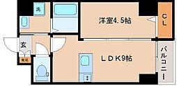 兵庫県神戸市中央区海岸通6丁目の賃貸マンションの間取り