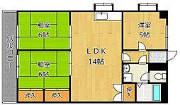 第10岡部ビル[4階]の間取り