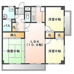 アビタシオン橋本I[5階]の間取り