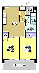 メゾンワシヅ[401号室]の間取り
