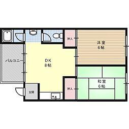 角田マンション[2階]の間取り