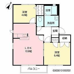 ファンテージ21 D棟[2階]の間取り