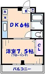 あけぼのSSビル3F[308号室]の間取り