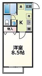 神奈川県厚木市寿町3の賃貸アパートの間取り