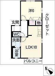 フェリーチェ D棟[2階]の間取り