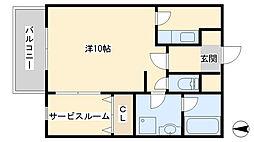 グッドシティ下富野[3階]の間取り