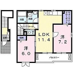 クレメント・輝II[2階]の間取り