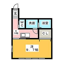 メゾン・長住[3階]の間取り