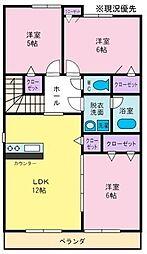 パークサイドステージ[2階]の間取り