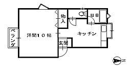 石川県金沢市額新保1丁目の賃貸アパートの間取り