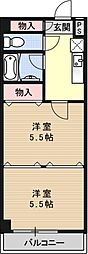 第8パールハイツ安井[308号室号室]の間取り