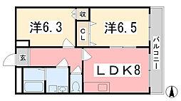 ラ・ルーナ[202号室]の間取り