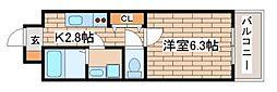 兵庫県神戸市長田区松野通3丁目の賃貸マンションの間取り