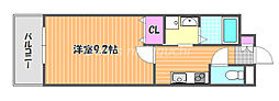 JR山陽本線 西川原駅 徒歩3分の賃貸アパート 1階1Kの間取り
