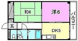 コーポ永田[303 号室号室]の間取り