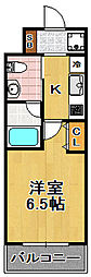 CITY PAL TAISHO[2階]の間取り
