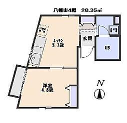 八幡山ビル[4F号室]の間取り