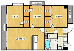 ウィンドヒルコート[3階]の間取り
