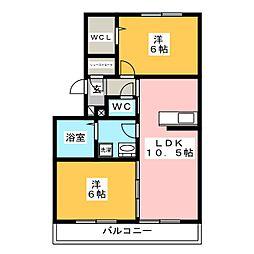 ケントA[1階]の間取り