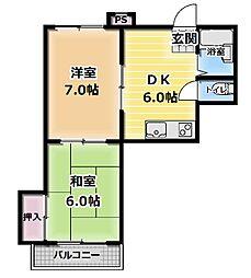 古川ビレッチ[4階]の間取り