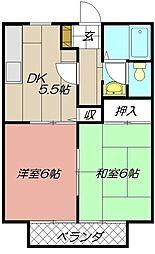 ビーラインKIII[201号室]の間取り