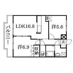 静岡県浜松市西区舞阪町長十新田の賃貸アパートの間取り
