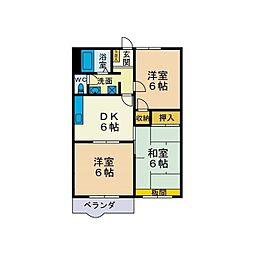 アイビーセフィラ三田弐番館[2階]の間取り