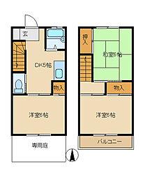 [テラスハウス] 神奈川県高座郡寒川町大曲4丁目 の賃貸【/】の間取り