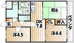 ロワールマンション赤坂[3階]の間取り