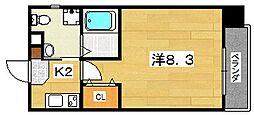 プラディオ交野[9階]の間取り