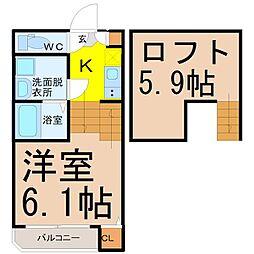 Wood House 本陣(ウッドハウスホンジン)[1階]の間取り