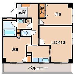 メゾンクロダ弐番館[2階]の間取り