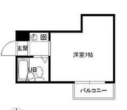 エムズ東梅田[5C号室]の間取り